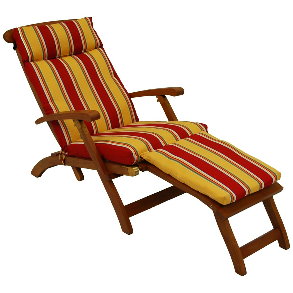 Steamer Deck Lounge Chair Cushion  UV Resistant