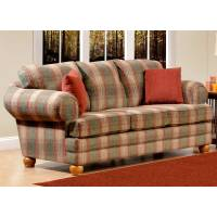 Cedaredge Plaid Sofa - Pine Ridge Green Fabric   DCG Stores