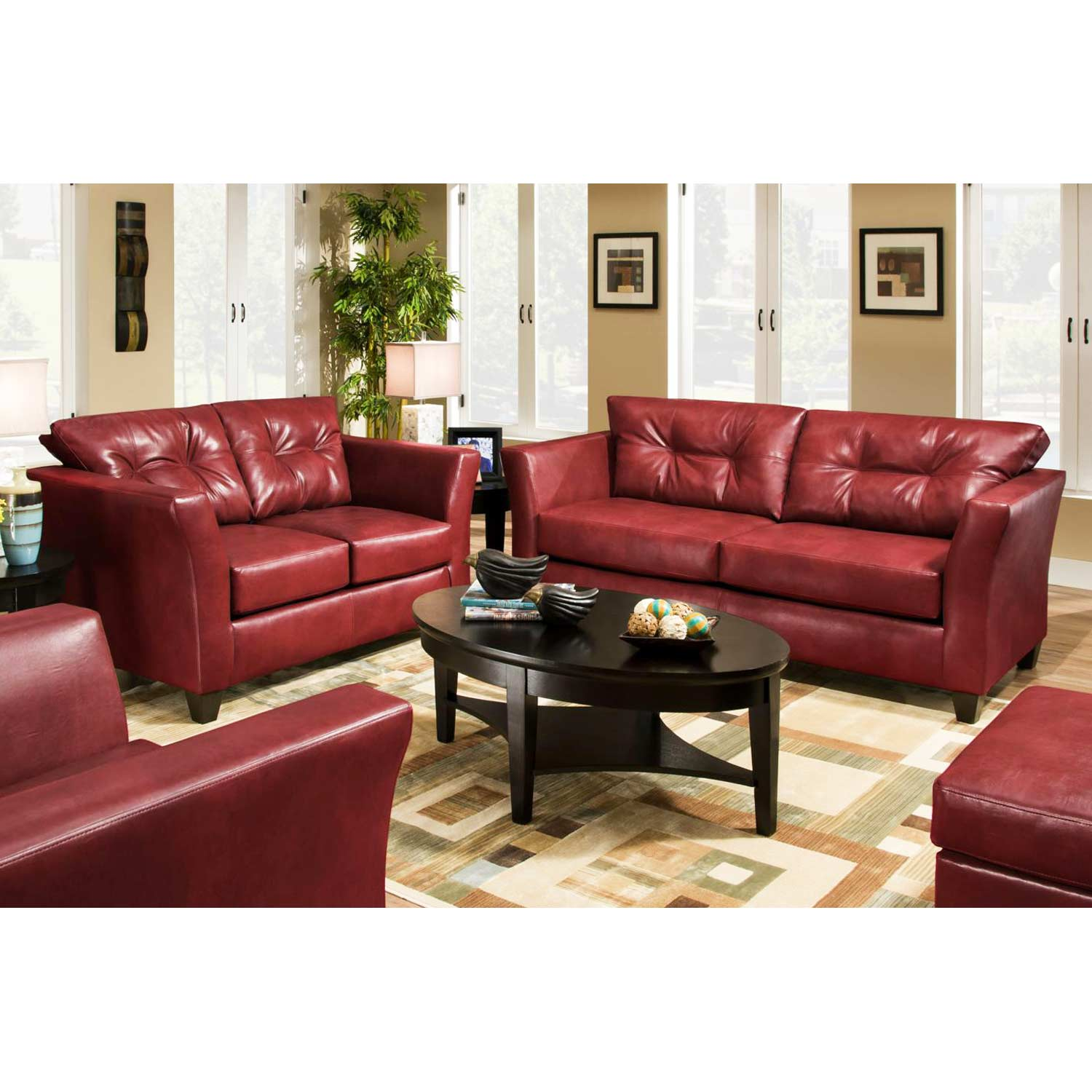 del mar custom sectional sofa oriental tufted leather tonto strawberry dcg stores