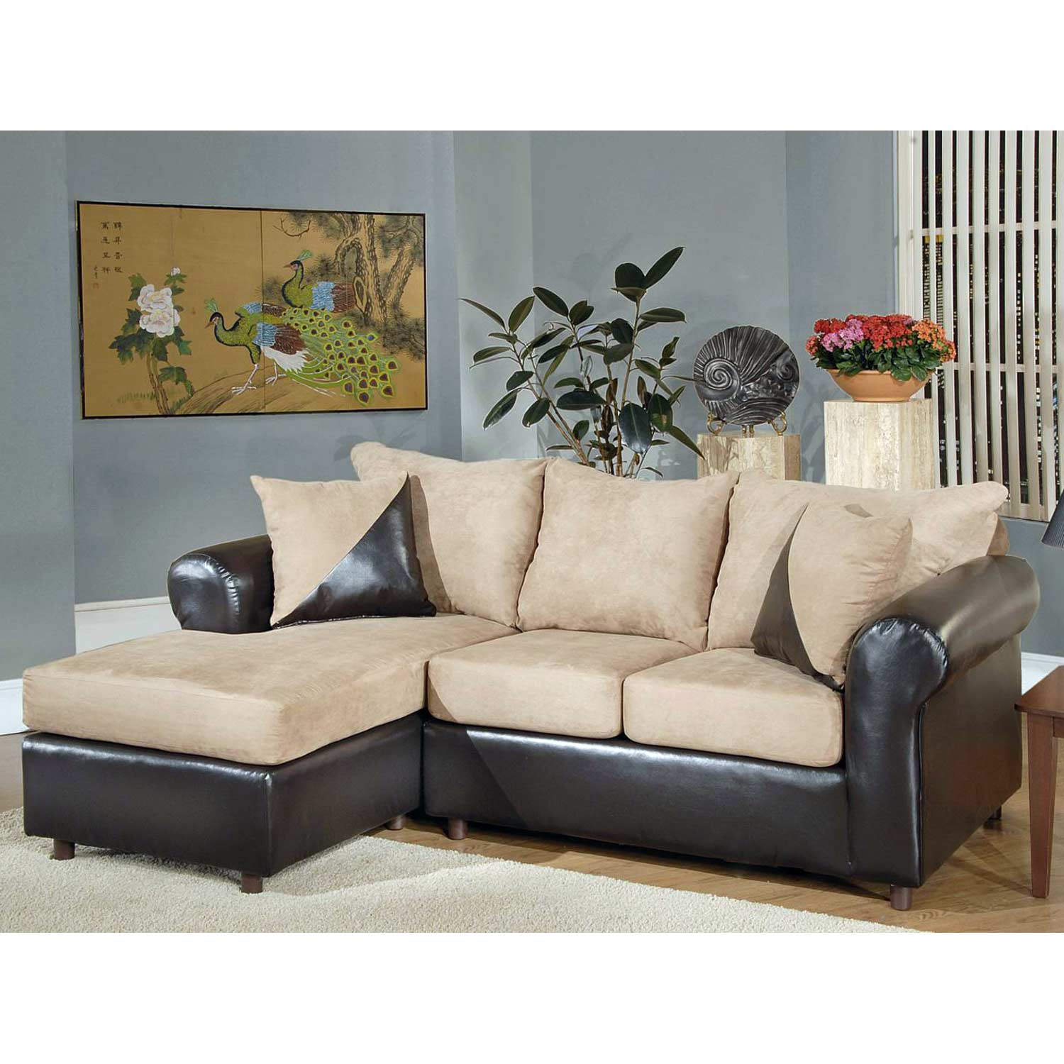 rolled arm sofa chaise convertible bed garden sets uk tim and sectional bulldozer mocha