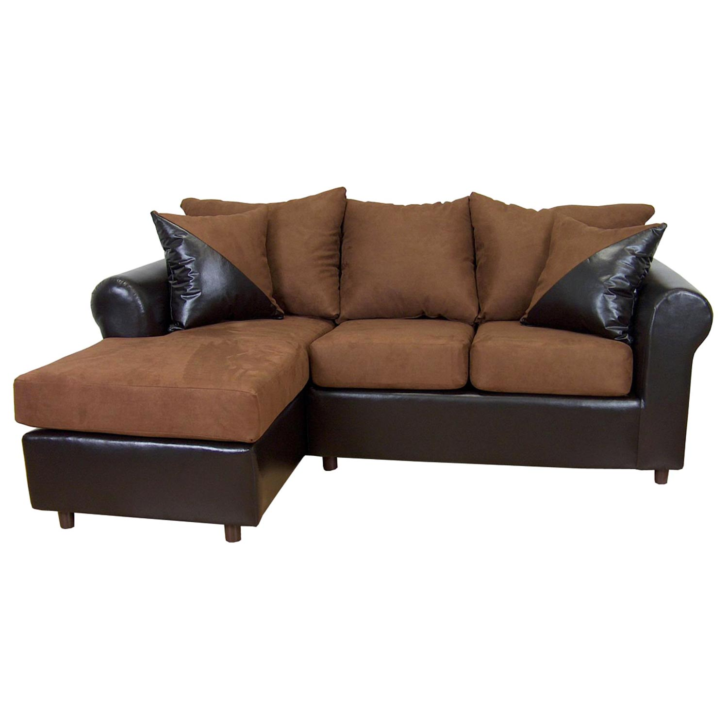 rolled arm sofa chaise convertible bed short corner sofas tim and sectional mission cinnamon