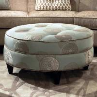 Esse Round Fabric Ottoman - Tufting, Beverly Drizzle | DCG ...