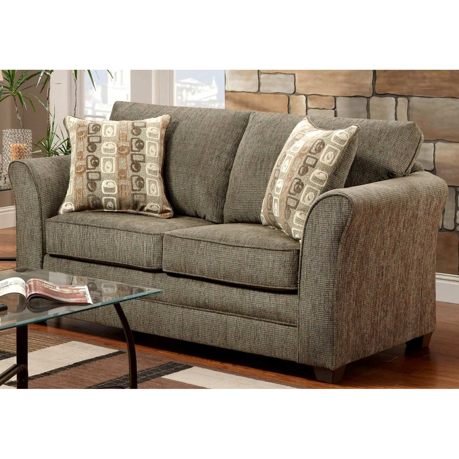 essex sofas build your own sectional sofa the brick loveseat accent pillows radar graphite fabric
