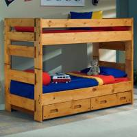 Twin Bunk Bed - Trundle Unit, Cinnamon Finish | DCG Stores