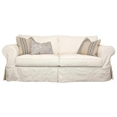 One Arm Sofa Slipcover Tv Gordon Skirted Rolled - Who Natural ...