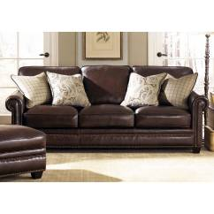 Traditional Leather Sectional Sofas Faux Sofa Bed Brown Lamesa Rolled Arms Stampede