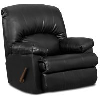 Charles Rocker Recliner Chair - Black Leather | DCG Stores
