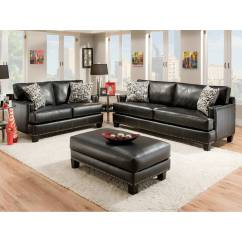 Black Leather Sofa With Nailheads Brown Colour Sets Kimberly Nail Heads Apache Dcg Stores