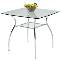 Daisy Square Glass Dining Table | DCG Stores