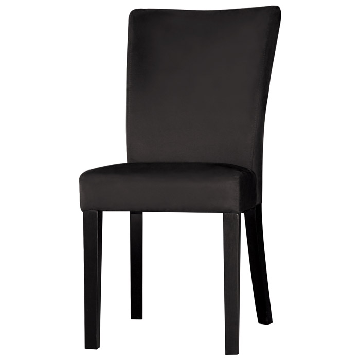 black parsons chair red metal chairs monica satin legs microfiber dcg stores ci prs