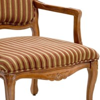 Franklin Striped Chenille Accent Chair | DCG Stores