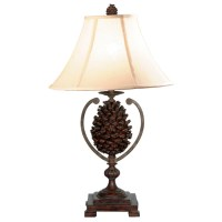 Pine Cone Country Style Table Lamp   DCG Stores