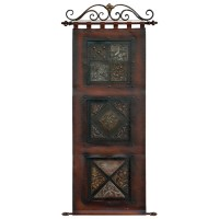 Floral Brown Leather Wall Art | DCG Stores