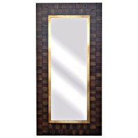 San Joaquin Tall Wall Mirror with Wood Frame | DCG Stores