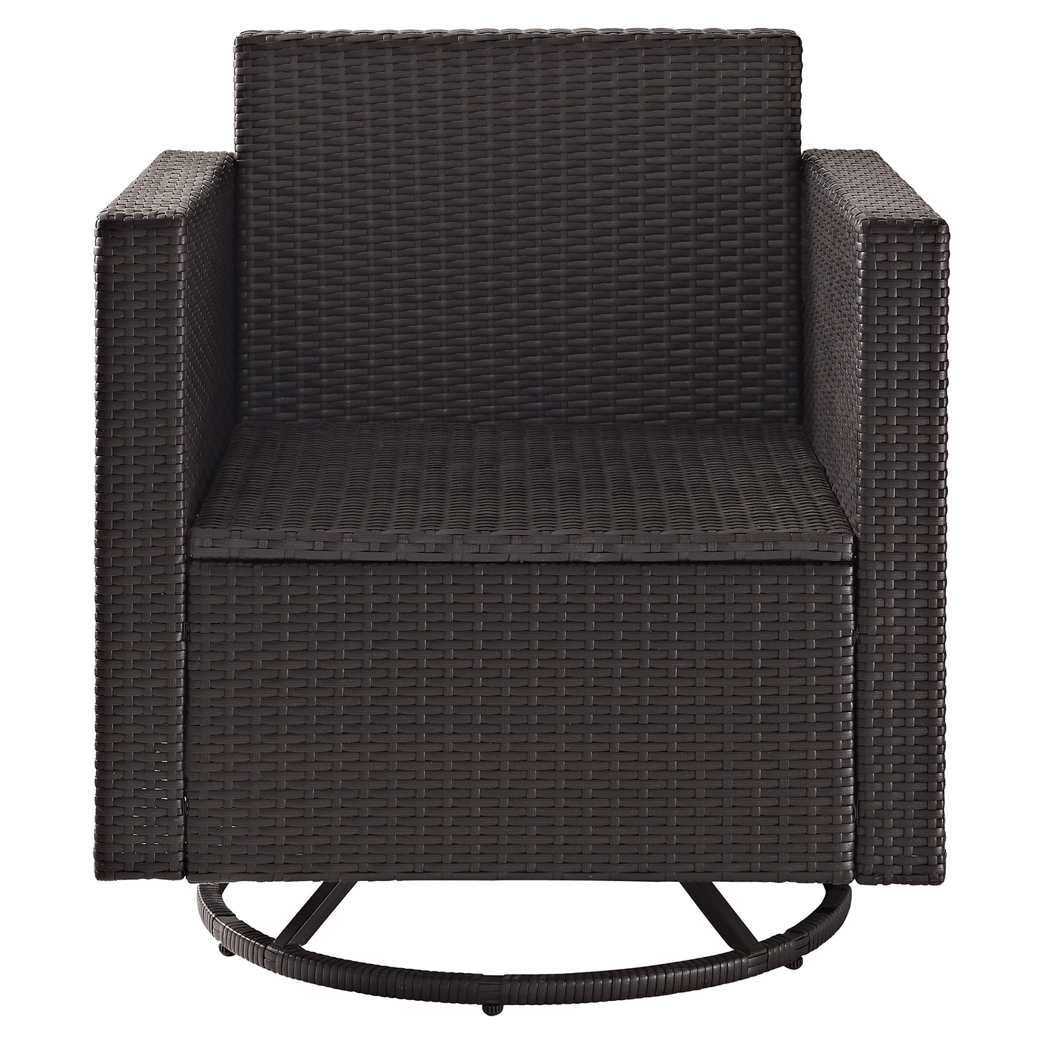 wicker swivel outdoor dining chair leather wingback chairs canada palm harbor rocker dark
