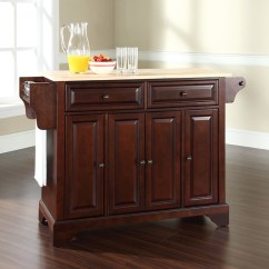 Mahogany Kitchen Island What Is The Average Cost For Cabinets Lafayette Natural Wood Top Vintage