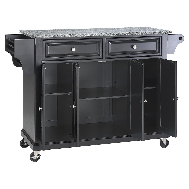 unfinished kitchen cart design plans solid granite top island casters black