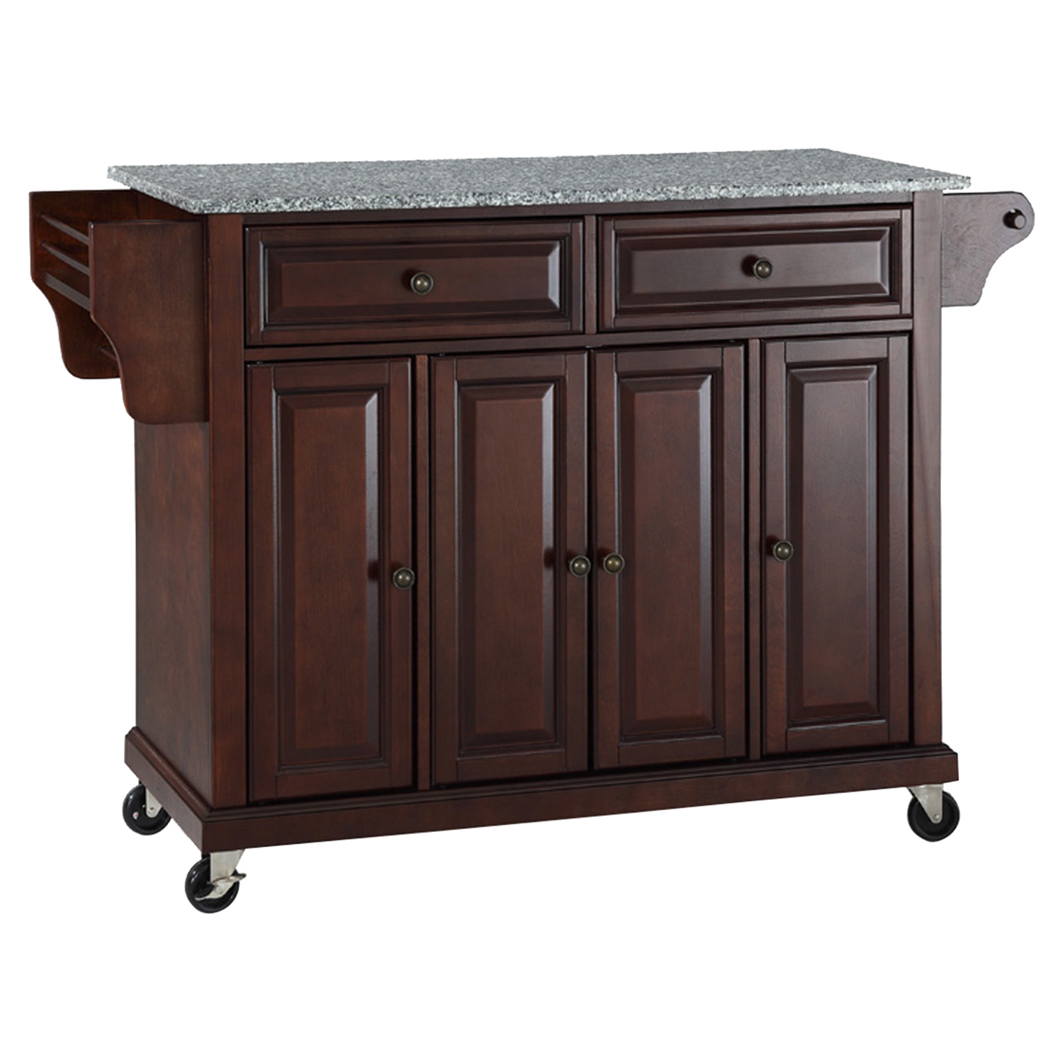 marble top kitchen cart long tables solid granite island casters vintage
