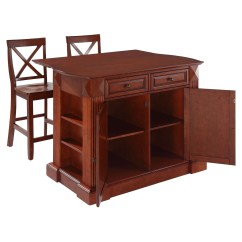 Kitchen Island With Drop Leaf How Much Cost Remodeling In Cherry 24 Quot X Back