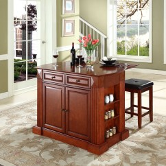Kitchen Island With Drop Leaf Raymour And Flanigan Sets In Cherry 24 Quot Square