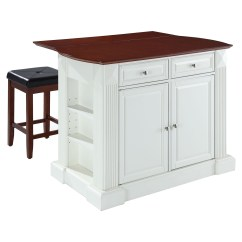 Kitchen Island With Drop Leaf Remodel Ideas For Small In White 24 Quot Cherry Square