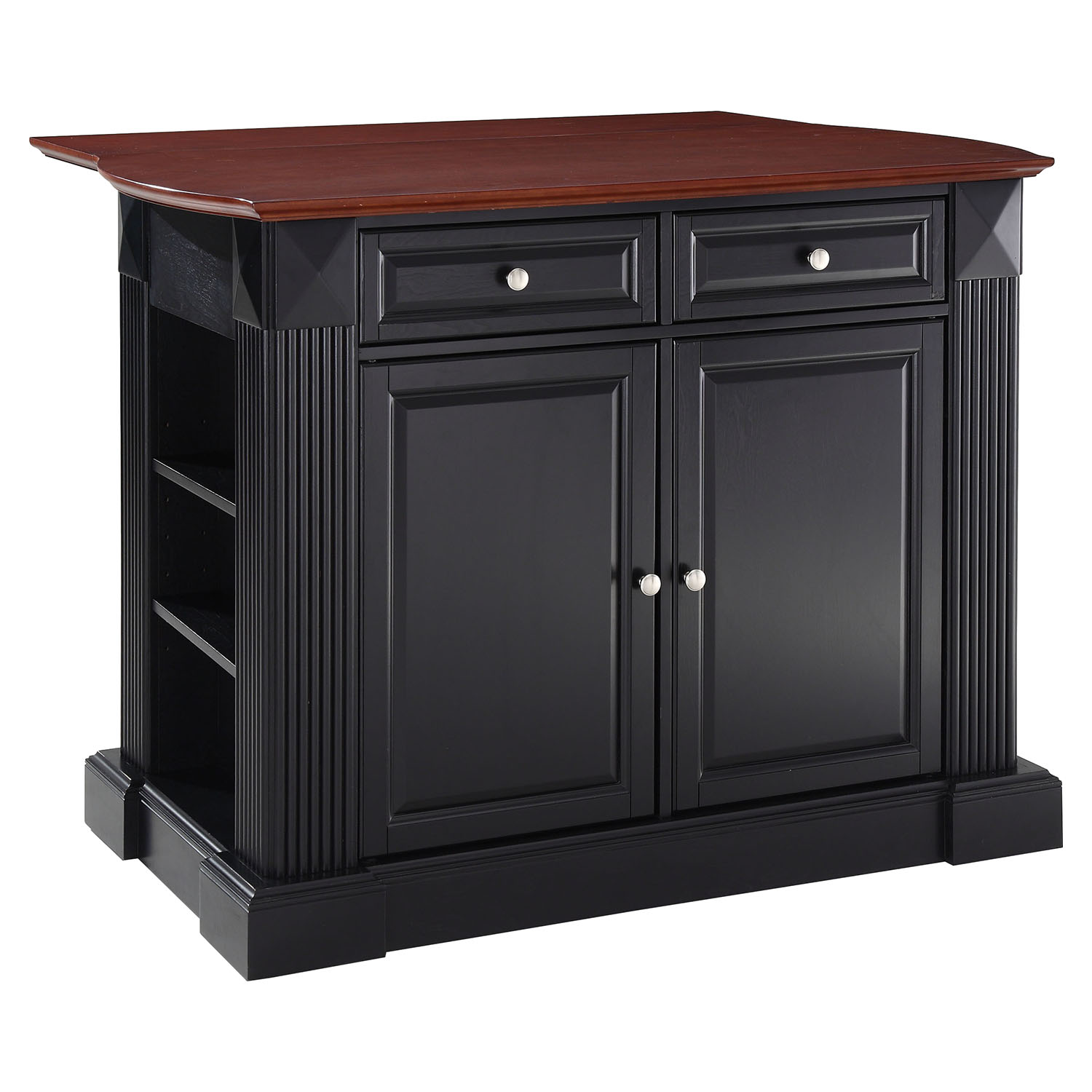 kitchen island with drop leaf backsplash designs breakfast bar top black dcg