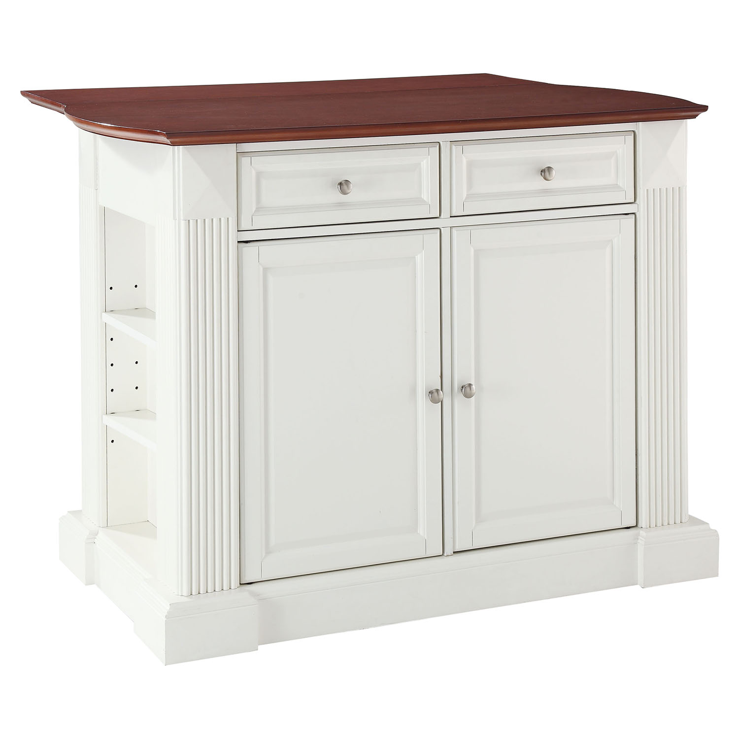 kitchen island with drop leaf old tables breakfast bar top white dcg