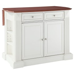 Kitchen Island With Drop Leaf Ikea Chairs Breakfast Bar Top White Dcg