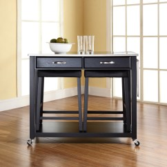 Stainless Steel Stools Kitchen Delta Talbott Faucet Top Island Cart And Saddle
