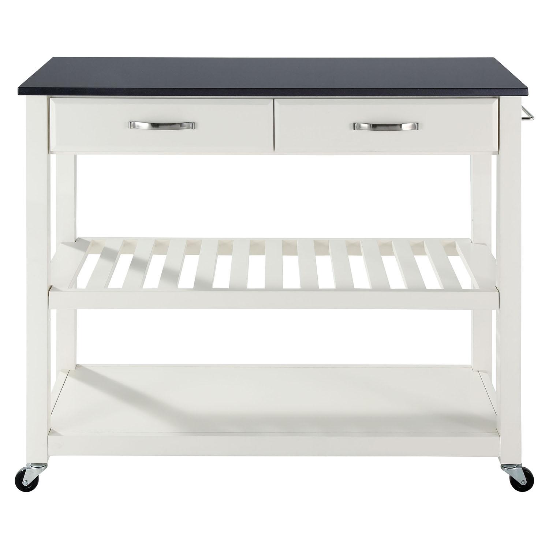 marble top kitchen cart mdf cabinet doors solid black granite island white dcg