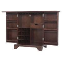 LaFayette Expandable Bar Cabinet - Vintage Mahogany | DCG ...