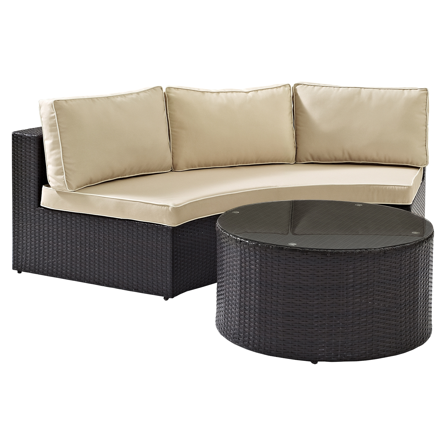 Catalina 2-piece Outdoor Wicker Seating Set - Sand