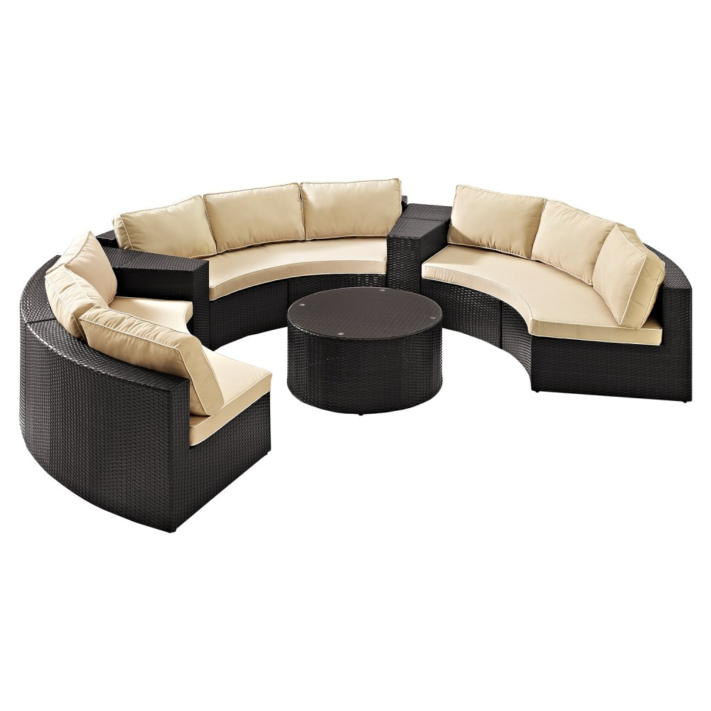 Catalina 6-piece Outdoor Seating Set - Sand Cushions Dark