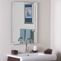 Contemporary Large Frameless Wall Mirror | DCG Stores