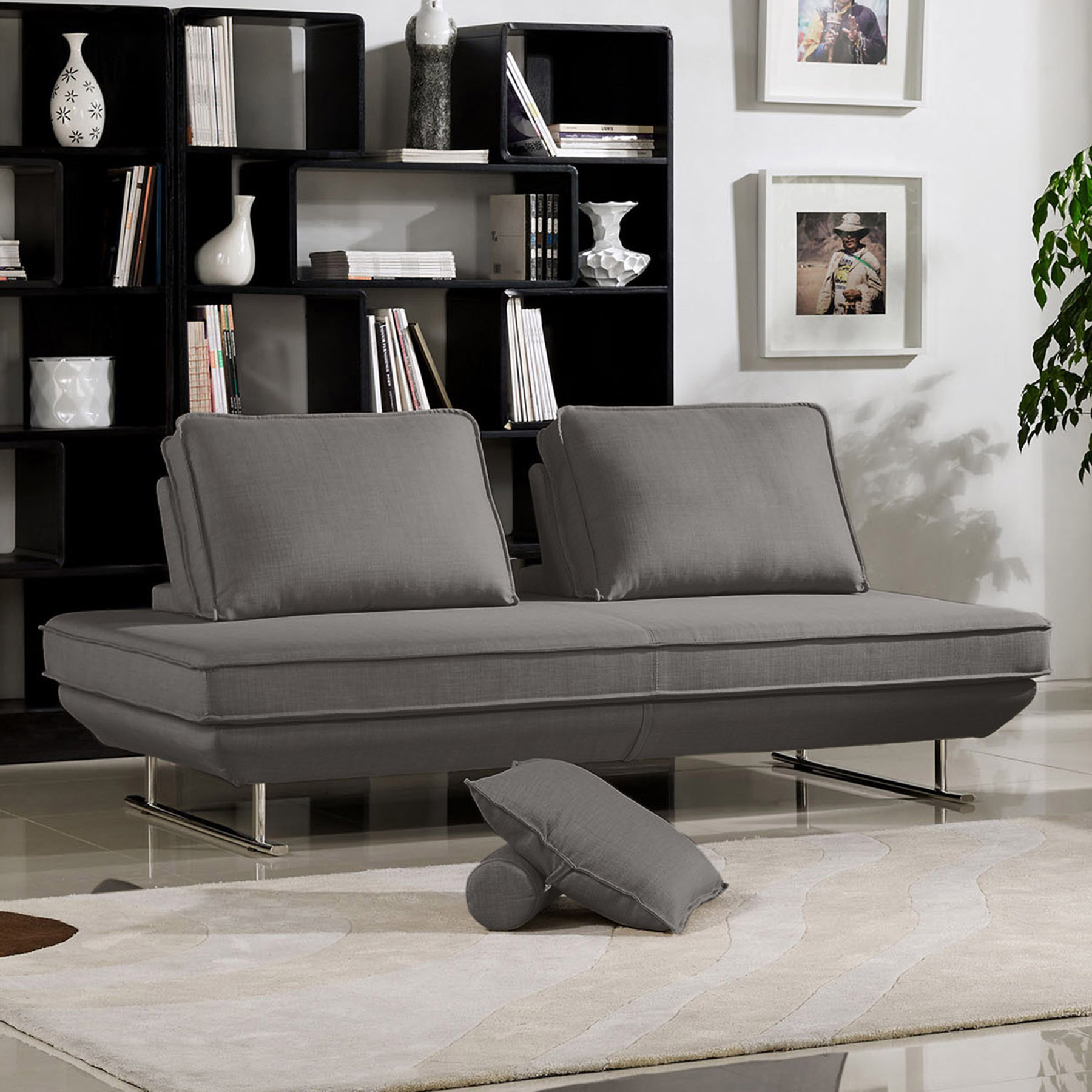 diamond sofa dolce modern sectional sofas for sale lounge chair moveable backrest gray fabric dcg