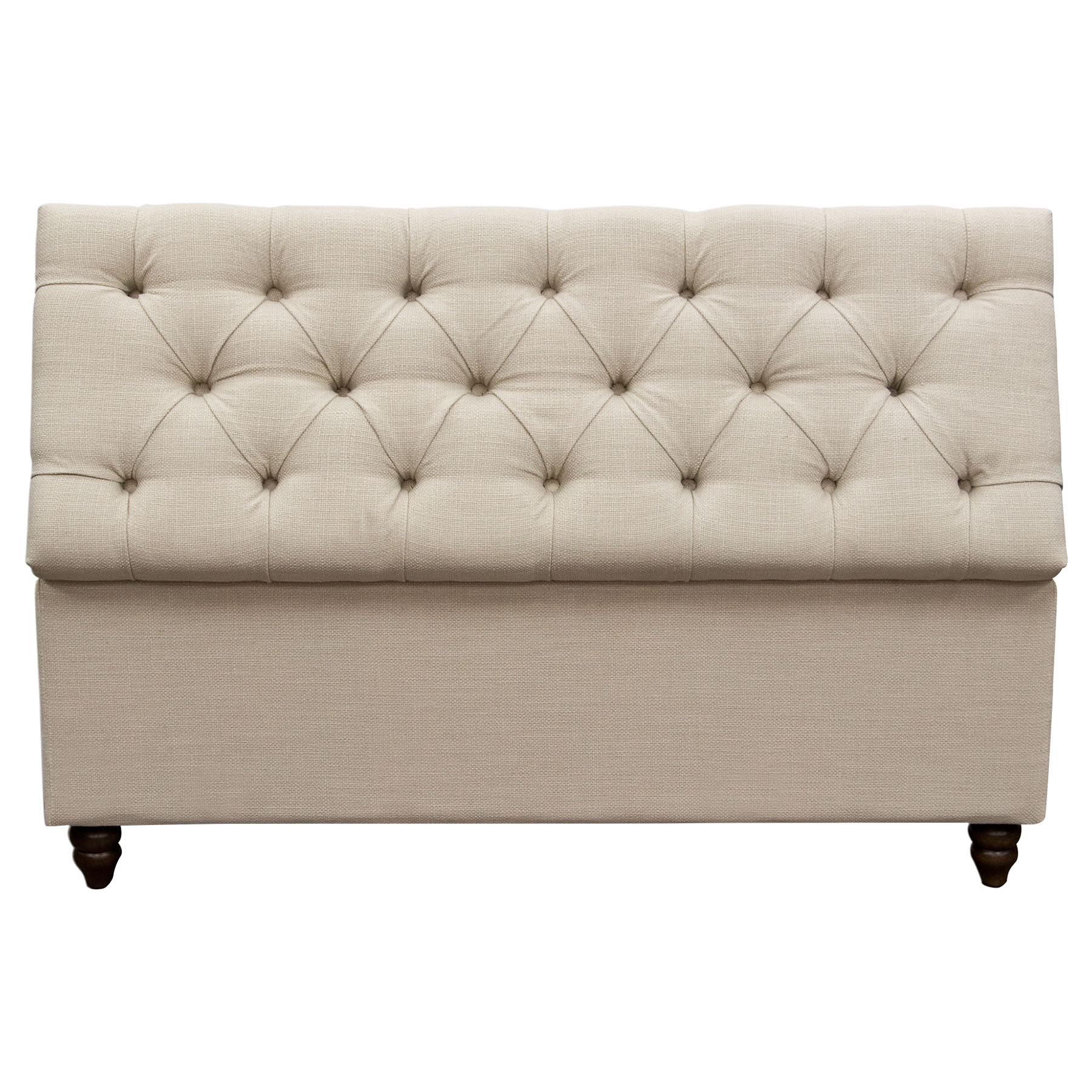 diamond sofa park ave king bed in desert sand foldable lift top storage trunk tufted