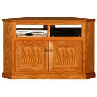 "Classic Oak 50"" Tall Corner TV Cabinet - 2 Shelves, 2 ..."