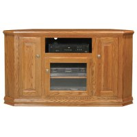 "Classic Oak 56"" Tall Corner TV Cabinet"