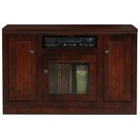 "Coastal Thin 45"" Tall TV Cabinet - Bead Board, Glass Panel ..."