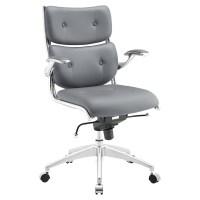 Push Mid Back Office Chair - Adjustable Height, Swivel ...
