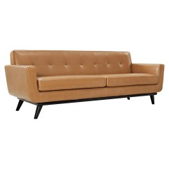 Tufted Sofa Set Cum Bed Images Engage 3 Pieces Leather Tan Dcg Stores