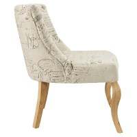 Royal Fabric Chair - White   DCG Stores
