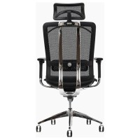 Future Black Office Chair with Headrest | DCG Stores