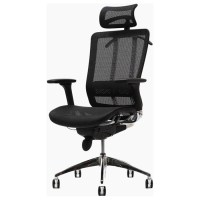 Future Black Office Chair with Headrest