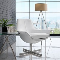 Release Bonded Leather Lounge Chair - White | DCG Stores