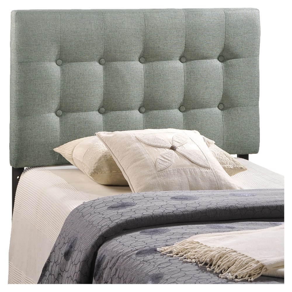 Emily Twin Button Tufted Fabric Headboard  DCG Stores