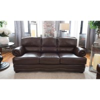 Charleston Top Grain Leather Sofa - Toast | DCG Stores