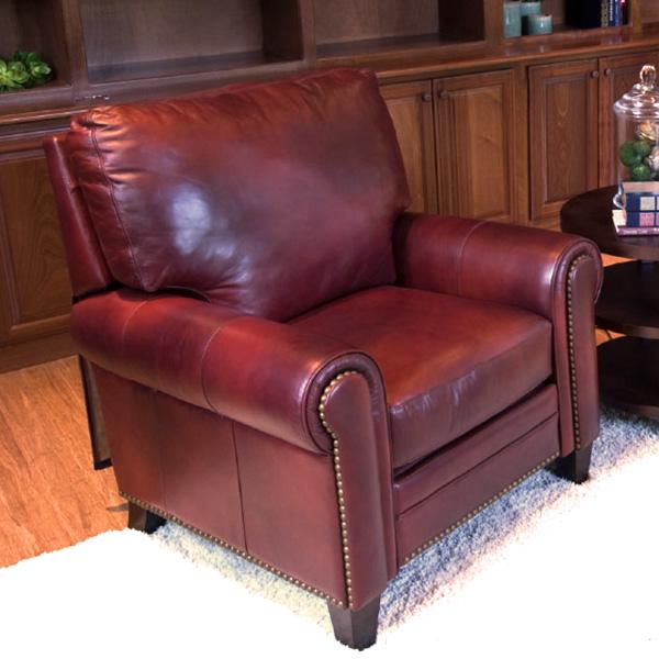reclining club chair accent slipcover garret top grain leather in sienna dcg stores ele gar rc