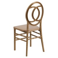Hercules Series Resin Royal Stacking Chair - Gold | DCG Stores