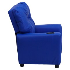 Kids Recliner Chair Pottery Barn Chairs Dining Upholstered Cup Holder Blue Dcg Stores Flsh Bt 7950